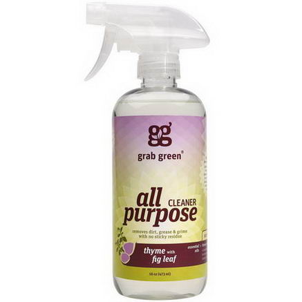 GrabGreen, All Purpose Cleaner, Thyme with Fig Leaf, 16oz (473 ml)