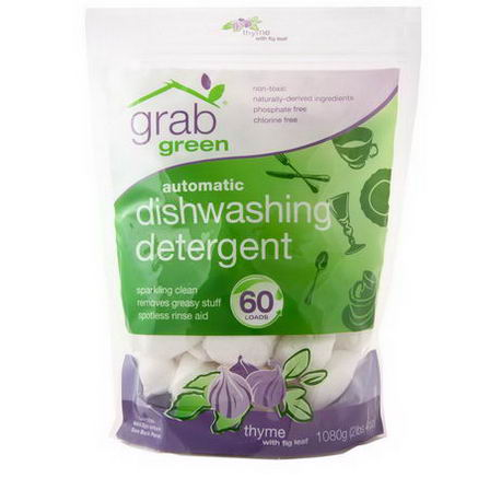 GrabGreen, Automatic Dishwashing Detergent, Thyme with Fig Leaf, 2 lbs4oz (1080g)