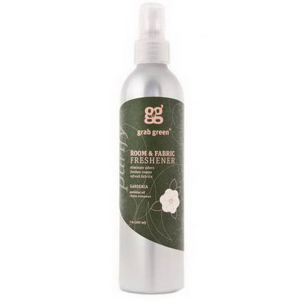 GrabGreen, Room & Fabric Freshener, Gardenia, 7oz (207 ml)