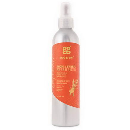 GrabGreen, Room & Fabric Freshener, Tangerine with Lemongrass, 7oz (207 ml)