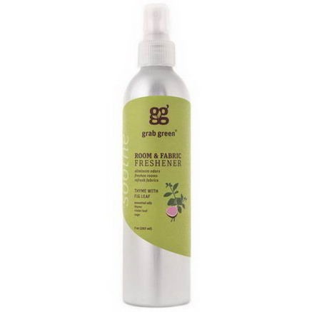 GrabGreen, Room & Fabric Freshener, Thyme with Fig Leaf, 7oz (207 ml)
