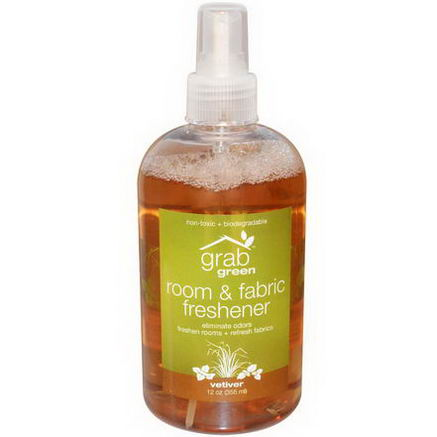 GrabGreen, Room & Fabric Freshener, Vetiver, 12oz (355 ml)