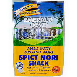 Great Eastern Sun, Emerald Cove, Spicy Nori Snack, 12 Packets of 4 Strips Each, 0.44oz (12g)