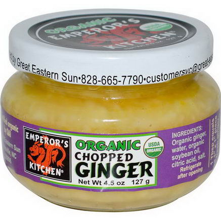 Great Eastern Sun, Organic Chopped Ginger, 4.5oz (127g)