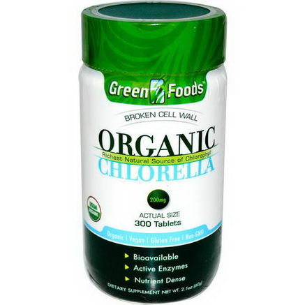 Green Foods Corporation, Organic Chlorella, 200mg, 300 Tablets