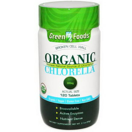 Green Foods Corporation, Organic Chlorella, 500mg, 120 Tablets