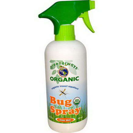Greenerways, Organic Bug Spray, 16 fl oz (480 ml)