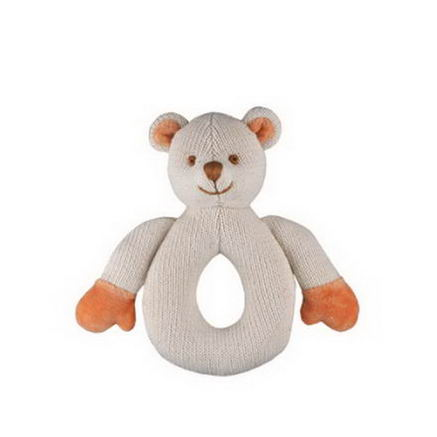 Greenpoint Brands, Miyim, Organic Cotton Teether, Off White Bear, 1 Teether