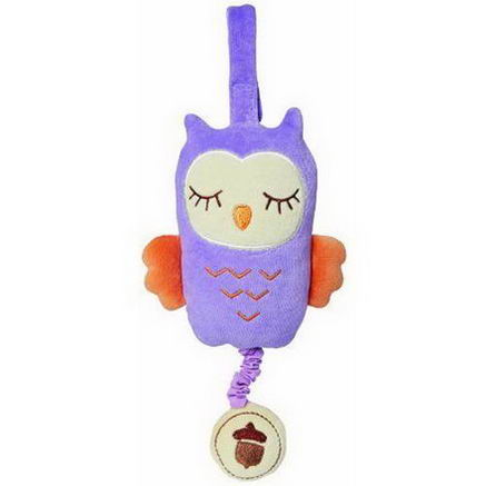 Greenpoint Brands, My Natural, Musical Pull Toy, Purple Owl, 1 Toy