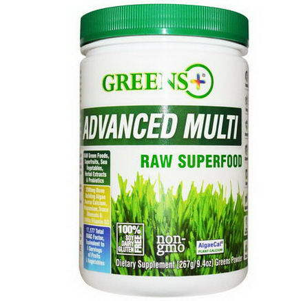 Greens Plus, Advanced Multi Raw Superfood, 9.4oz (276g) Greens Powder