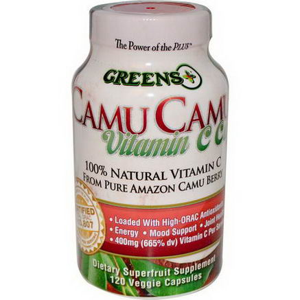 Greens Plus, Camu Camu Vitamin C Caps, 120 Veggie Caps