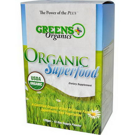 Greens Plus, Organics, Organic Superfood, 15 Sticks, 8g Each