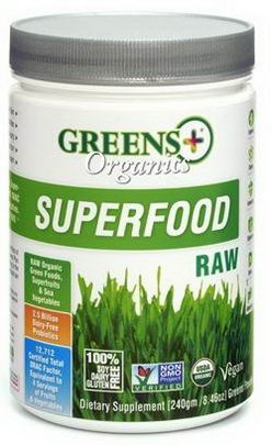 Greens Plus, Organics Superfood, Raw, 8.46oz (240g)