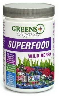 Greens Plus, Organics Superfood, Wild Berry, 8.46oz (240g)