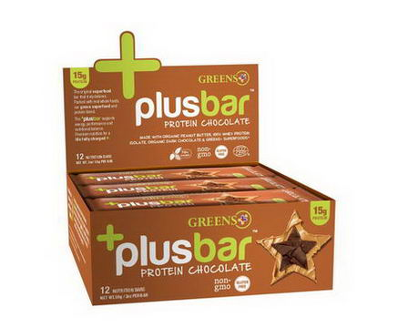 Greens Plus, Protein Chocolate, 12 Bars, 2oz (59g) Each