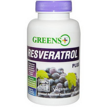 Greens Plus, Resveratrol Plus, 120 Veggie Caps