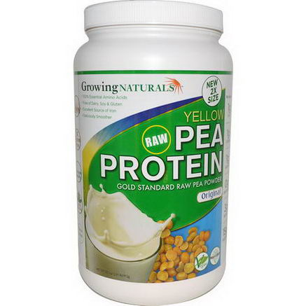 Growing Naturals, Yellow Raw Pea Protein, Original, 32.2oz (912g)
