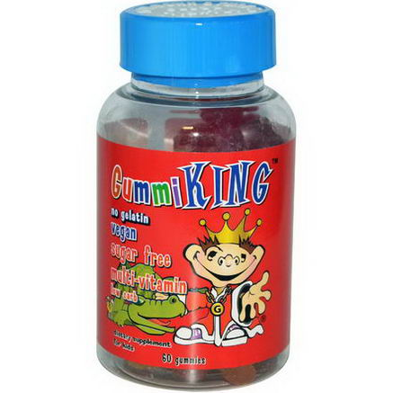 Gummi King, Sugar-Free Multi-Vitamin, For Kids, 60 Gummies