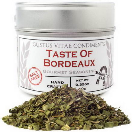 Gustus Vitae, Condiments, Gourmet Seasoning, Taste of Bordeaux, 0.35oz (10g)