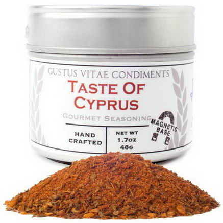 Gustus Vitae, Condiments, Gourmet Seasoning, Taste of Cyprus, 1.7oz (48g)