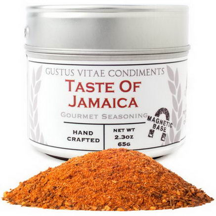Gustus Vitae, Condiments, Gourmet Seasoning, Taste of Jamaica, 2.3oz (65g)