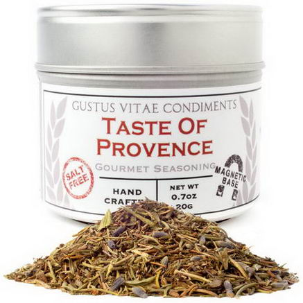 Gustus Vitae, Condiments, Gourmet Seasoning, Taste of Provence, 0.7oz (20g)