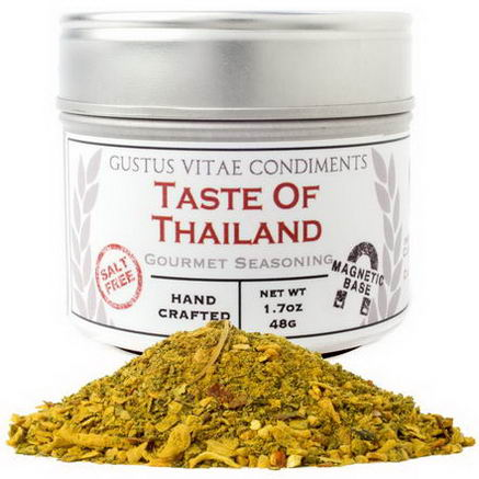 Gustus Vitae, Condiments, Gourmet Seasoning, Taste of Thailand, 1.7oz. (48g)