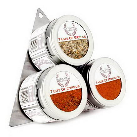 Gustus Vitae, Taste of the Mediterranean Seasoning Collection, 3 Tin Variety Pack