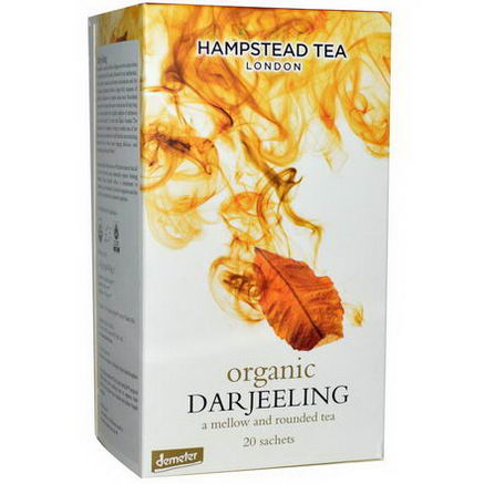 Hampstead Tea, Organic, Darjeeling Tea, 20 Sachets, 1.41oz (40g)