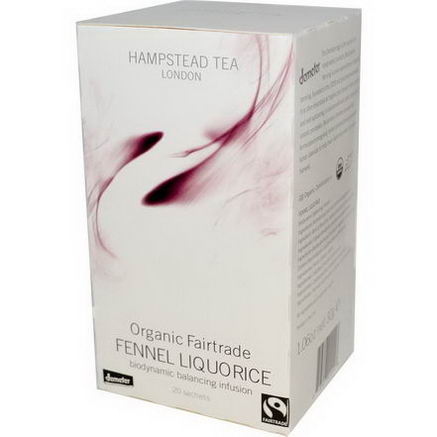 Hampstead Tea, Organic Fairtrade Fennel Liquorice, 20 Sachets, 1.06oz (30g)