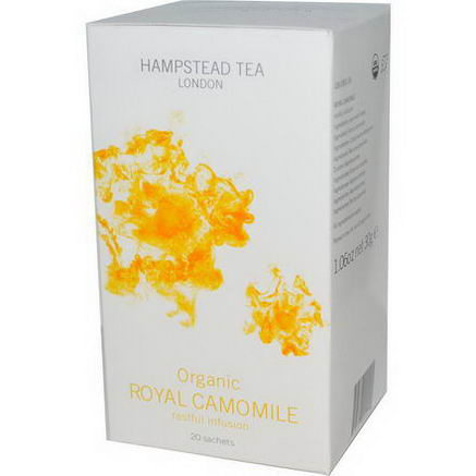 Hampstead Tea, Organic, Royal Chamomile, Restful Infusion, 20 Sachets, 1.06oz (30g)