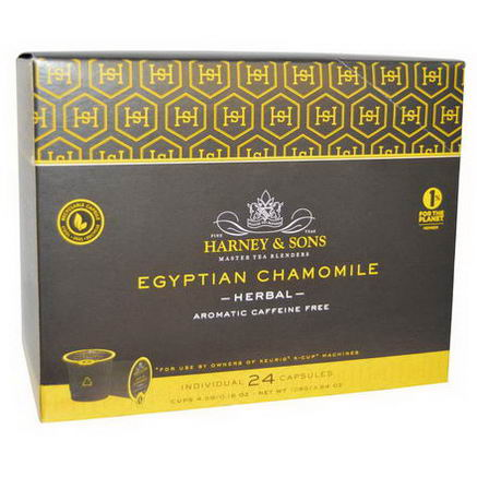 Harney & Sons, Egyptian Chamomile Tea, Caffeine Free, 24 K-Cups, 0.16oz (4.5g)