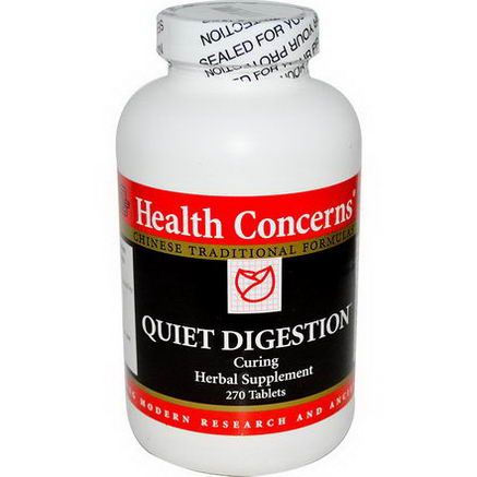 Health Concerns, Quiet Digestion, Curing, 270 Tablets