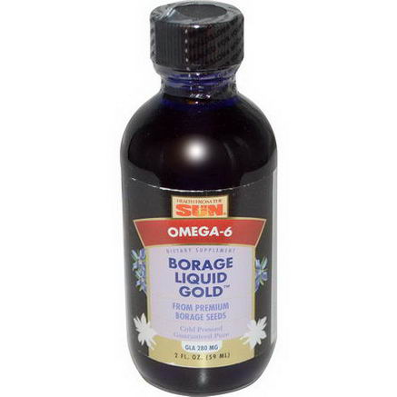 Health From The Sun, Borage Liquid Gold, 2 fl oz (59 ml)