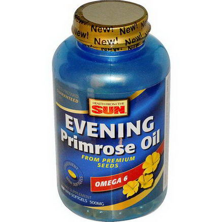 Health From The Sun, Evening Primrose Oil, Omega-6, 500mg, 180 Mini Softgels