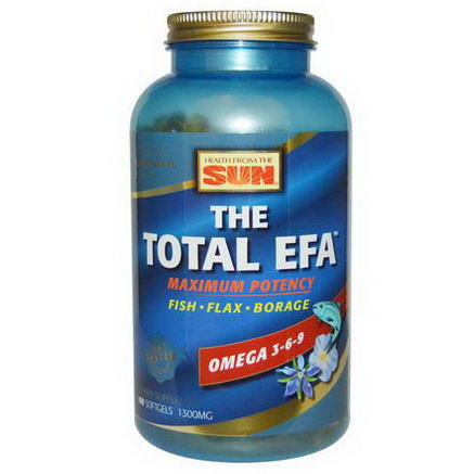 Health From The Sun, The Total EFA, Maximum Potency, 1300mg, 180 Softgels
