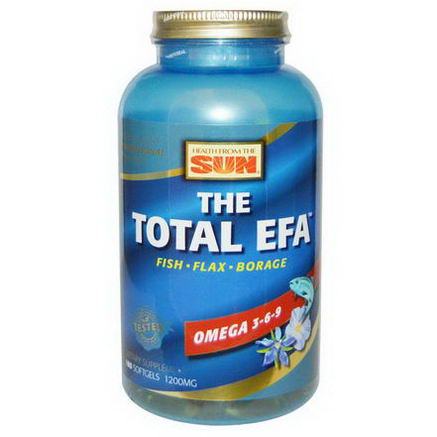 Health From The Sun, The Total EFA, Omega 3-6-9, 180 Softgels