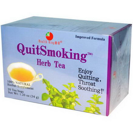 Health King, QuitSmoking Herb Tea, 20 Tea Bags, 1.20oz (34g)