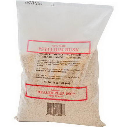 Health Plus Inc. 100% Pure Psyllium Husk, 24oz (680g)