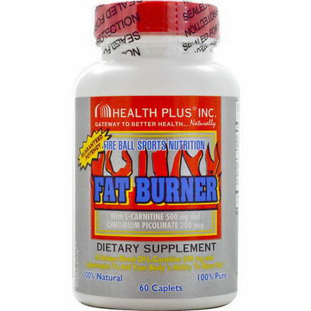 Health Plus Inc. Fire Ball Sports Nutrition Fat Burner, 60 Caplets