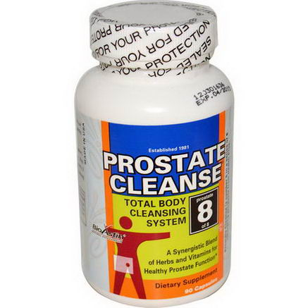 Health Plus Inc. Prostate Cleanse, Total Body Cleansing System, Prostate 8 of 8, 90 Capsules
