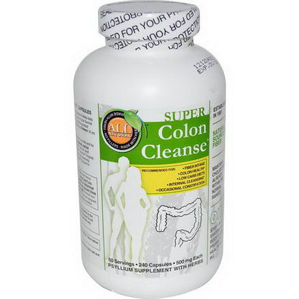 Health Plus Inc. Super Colon Cleanse, 500mg, 240 Capsules