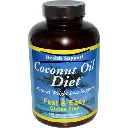 Health Support, Coconut Oil Diet, 180 Softgel Capsules