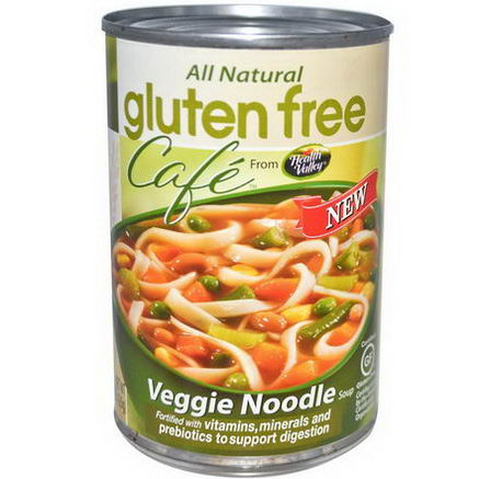 Health Valley, Gluten Free Cafe, Veggie Noodle Soup, 15oz (425g)