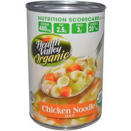 Health Valley, Organic Soup, Chicken Noodle, 15oz (425g)