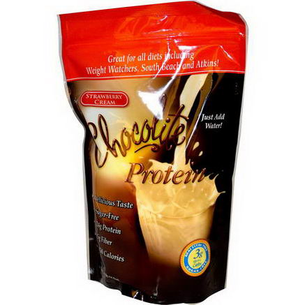 HealthSmart Foods, Inc. Chocolite Protein, Strawberry Cream, 14.7oz (418g)