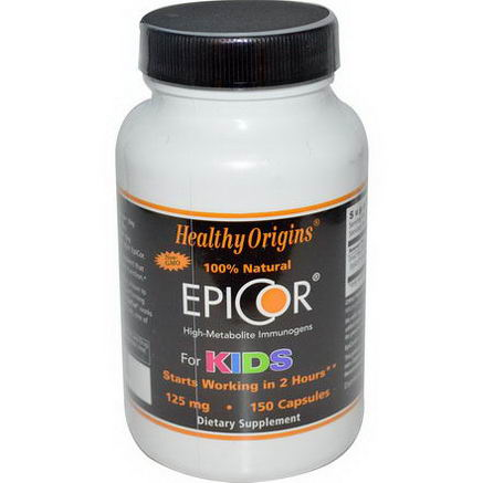 Healthy Origins, EpiCor for Kids, 125mg, 150 Capsules
