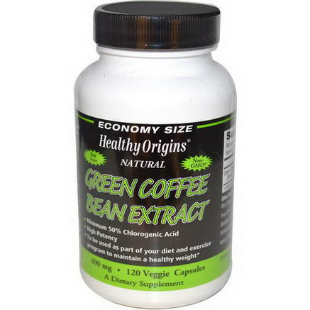 Healthy Origins, Green Coffee Bean Extract, 400mg, 120 Veggie Caps