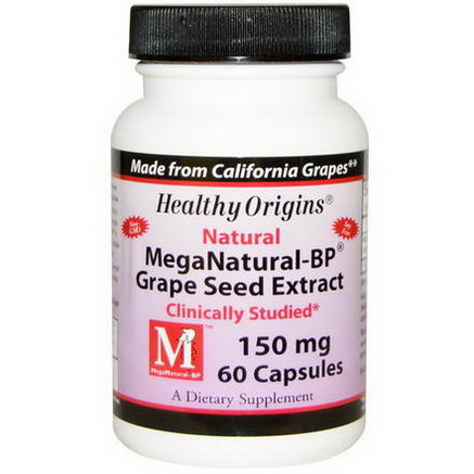 Healthy Origins, MegaNatural-BP Grape Seed Extract, 150mg, 60 Capsules