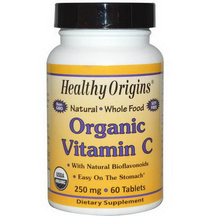 Healthy Origins, Organic Vitamin C, 250mg, 60 Tablets